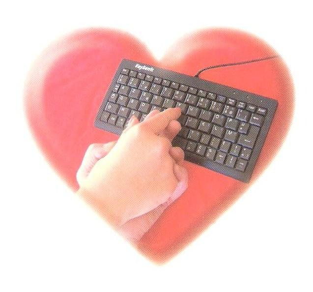 clavier dans coeur
